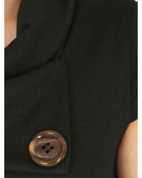 Izabel London | Black Tunic Top With Oversized Buttons | Lyst