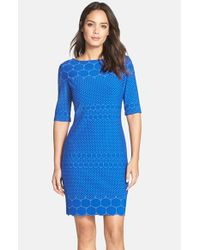 Julia Jordan | Blue 'rio' Knit Body-con Dress | Lyst