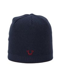True Religion | Blue Reversible Knit Cap for Men | Lyst