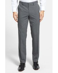 Calibrate | Blue Flat Front Houndstooth Trousers for Men | Lyst
