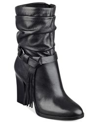 Guess - Black Tamsin Slouch Booties - Lyst