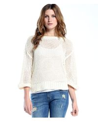 Michael Stars | White Boatneck With Dolman Sleeve | Lyst
