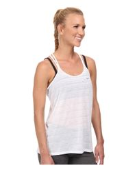 Nike | White Dri-fit™ Cool Breeze Strappy Tank Top | Lyst