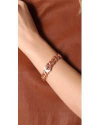 Marc By Marc Jacobs - Pink Turnlock Small Katie Bracelet - Rose Gold - Lyst