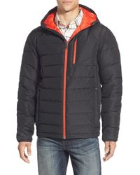 Spyder - Black 'dolomite' Hooded Down Jacket for Men - Lyst