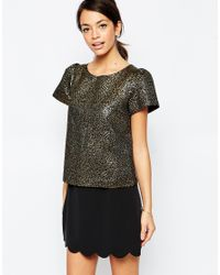 Traffic People | Metallic Bonnie Top In Jacquard | Lyst