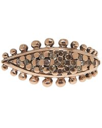 Laurent Gandini | Pink Brown Diamonds Leaf Ring | Lyst
