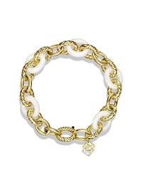 David Yurman | Metallic Oval Large Link Bracelet In Gold | Lyst