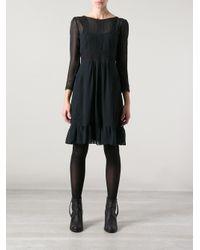 Vanessa Bruno Athé - Black Victorian Style Dress - Lyst