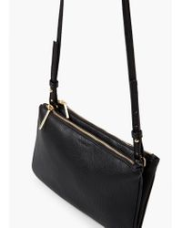 Mango | Black Double Compartment Cross Body Bag | Lyst