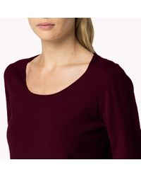 Tommy Hilfiger | Red Gianna Sweater | Lyst