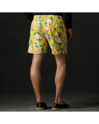 "Ralph Lauren Purple Label - Yellow Amalfi Daffodil 5"" Swim Trunk for Men - Lyst"