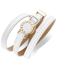 House of Harlow 1960 | White Gold-tone Leather Sunburst Wrap Bracelet | Lyst