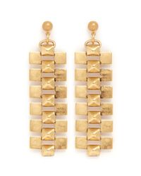 Ela Stone | Metallic 'gwen' Pyramid Chain Earrings | Lyst