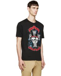 DSquared² - Black Rock Skulls T_shirt for Men - Lyst