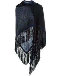 Antonia Zander | Blue Fringed Shawl | Lyst