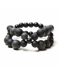 Hring Eftir Hring - Black Pirouette Bracelet Coal - Lyst