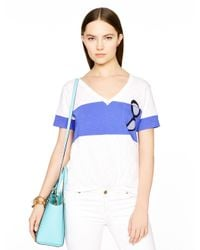 Kate Spade | Blue Sunglasses Jersey Pocket Tee | Lyst