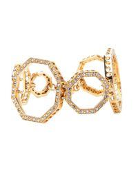 Ca&Lou | White Octagonal Link Bracelet | Lyst