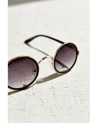 Urban Outfitters | Black Full Moon Round Sunglasses | Lyst