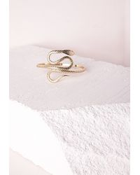 Missguided | Metallic Snake Arm Cuff | Lyst