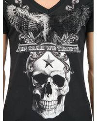 "Philipp Plein - Black ""In Cash We Trust"" Cotton T-Shirt for Men - Lyst"