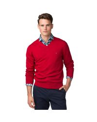 Tommy Hilfiger | Red Ethan Sweater for Men | Lyst