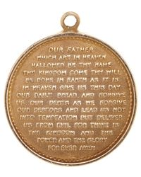 Annina Vogel | Metallic Vintage Gold Lords Prayer Charm | Lyst