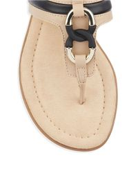 Bandolino | Natural Jael Chainklink Accented Thong Sandals | Lyst