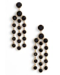 kate spade new york | Black Chandelier Earrings - Jet | Lyst