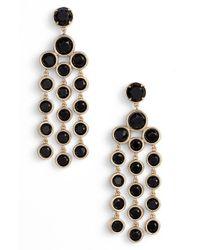 Kate Spade | Black Chandelier Earrings - Jet | Lyst