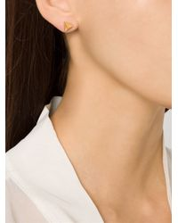 Luis Morais | Metallic Pyramid Stud Earrings | Lyst