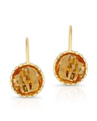 Anne Sisteron | 14kt Yellow Gold Citrine Earrings | Lyst