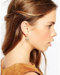 ASOS | Metallic Gold Plated Sterling Silver Dreamcatcher Swing Earrings | Lyst