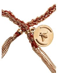 Carolina Bucci | Red Rose Gold Plated Silver Lucky Bracelet | Lyst