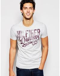 Hilfiger Denim | Gray T-shirt With Logo Print In Grey for Men | Lyst