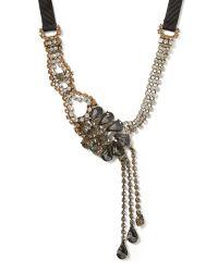Banana Republic | Metallic Asymmetrical Teardrop Necklace | Lyst