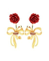 Dolce & Gabbana - Metallic Embellished Clip-on Earrings - Lyst