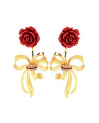 Dolce & Gabbana | Metallic Embellished Clip-on Earrings | Lyst