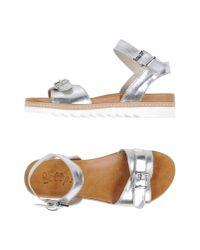 Scoop - Metallic Sandals - Lyst