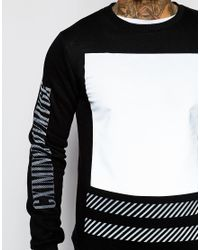 Criminal Damage | Black Led Sweatshirt for Men | Lyst