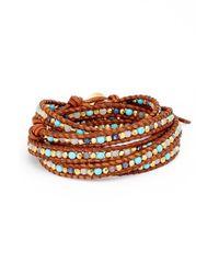 Chan Luu - Blue Leather Wrap Bracelet - Lyst