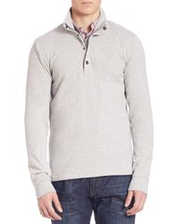 Polo Ralph Lauren | Gray Fleece Mockneck Pullover for Men | Lyst