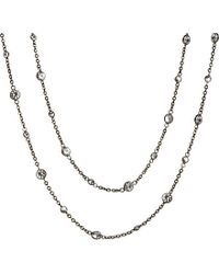 Annoushka - 18ct White Gold And White Sapphire Nectar Night Jasmine Long Necklace - Lyst