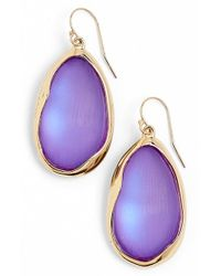 Alexis Bittar | Purple 'lucite - Liquid Metal' Oval Drop Earrings - Magenta | Lyst