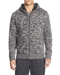 The North Face - Gray 'twisted Ridge' Hooded Zip Front Sweater for Men - Lyst