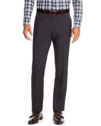 BOSS - Black 'sharp' | Regular Fit, Virgin Wool Check Dress Pants for Men - Lyst