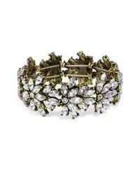 BaubleBar - Metallic Crystal Tiffany Stretch Bracelet - Lyst