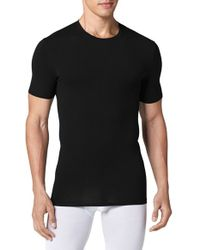 Tommy John | Black 'cool Cotton' Crewneck Undershirt for Men | Lyst