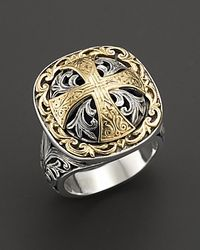 Konstantino - Metallic Maltese Cross Ring - Lyst